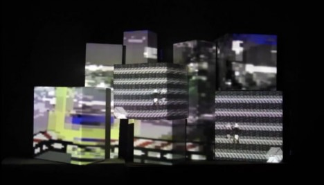 Boxes videomapping session