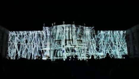 """""""Amethyst"""" videomapping - Collaboration with Dániel Besnyő  Music: Malvo Vary září 2017 - Alžbětiny lázně, Karlovy Vary, Czech republic"""
